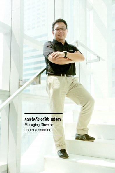 คุณขจัดภัย อารีประเสริฐสุข Managing Director คอมาว (ประเทศไทย)