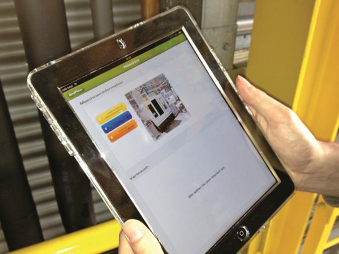 สามารถใช้ I-Pad เลือกและแสดงข้อมูลเครื่องจักรผ่าน WLAN