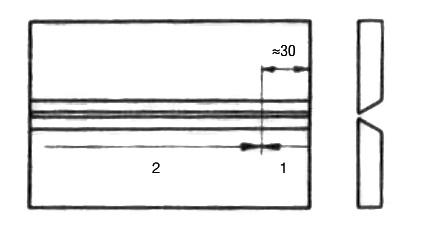 ลำดับการสร้างตะเข็บด้วยลวดเชื่อมฟลักซ์หนาปานกลาง