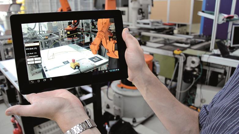 Mobile Visualisation และการจำลองการทำงานของโปรแกรมสำหรับหุ่นยนต์ ในสภาพแวดล้อมจริง