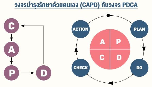วงจรบ�ารุงรักษาด้วยตนเอง (CAPD) กับวงจร PDCA