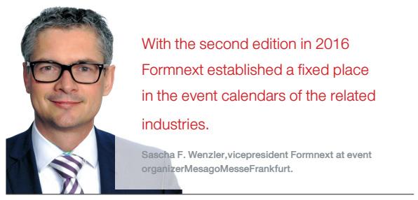Sascha F. Wenzler,vicepresident Formnext at event organizerMesagoMesseFrankfurt.