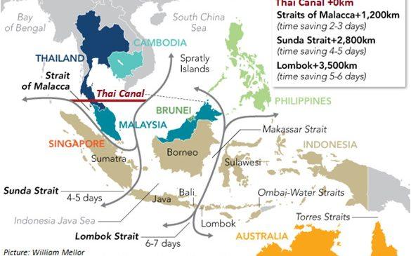 เทคโนโลยีเพื่ออนาคตที่ยั่งยืนของประเทศไทย คลองไทย การศึกษาแบบบูรณาการของระบบโลจิสติกส์ทางเลือกบนเส้นทางสายไหม