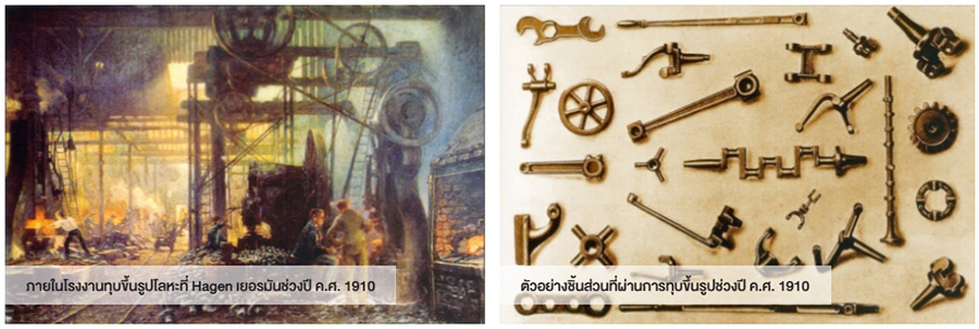 โรงงานและชิ้นส่วนทุบขึ้นรูป จากปี ค.ศ. 1910