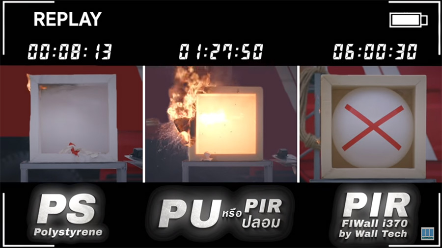 คลิปวิดีโอจำลองเหตุการณ์อัคคีภัย