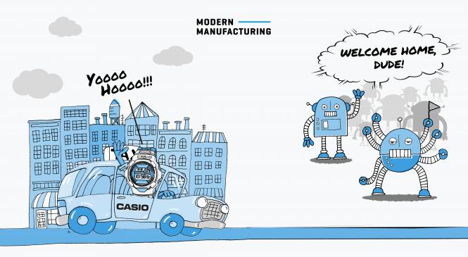 หุ่นยนต์ดึงผู้ผลิตอาทิตย์อุทัยกลับบ้าน