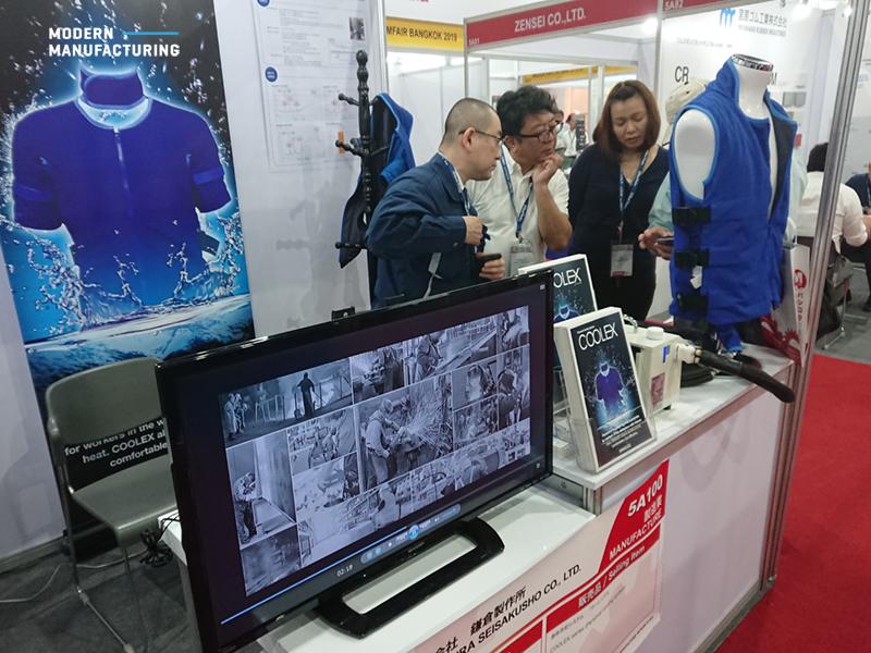 อุปกรณ์สวมใส่สำหรับลดอาการฮีทสโตรก ในงาน Mfair Bangkok 2018