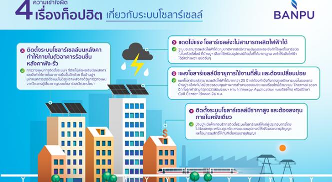 ไขความเข้าใจผิด 4 เรื่องท็อปฮิต เกี่ยวกับระบบผลิตไฟฟ้าจากพลังงานแสงอาทิตย์กับ 'บ้านปู'