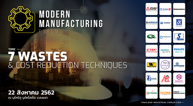 Modern Manufacturing Forum & Robotics Automation Forum Topic 7 Wastes & Cost Reduction Techniques