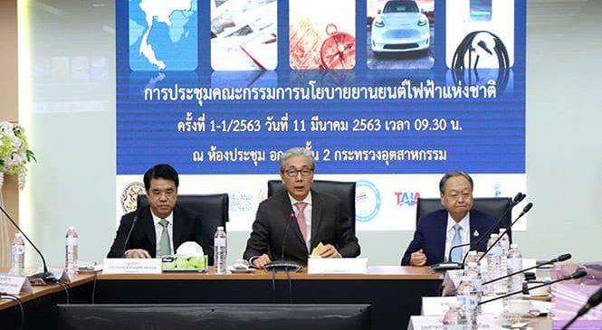กระทรวงอุตสาหกรรม เร่งให้ไทยเป็นฐานการผลิตยานยนต์ไฟฟ้า ใน 5 ปี