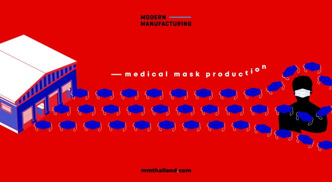 การผลิตหน้ากากอนามัยทำกันอย่างไร?