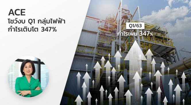ACE โชว์งบ Q1 กลุ่มไฟฟ้า กำไรเติบโต 347%