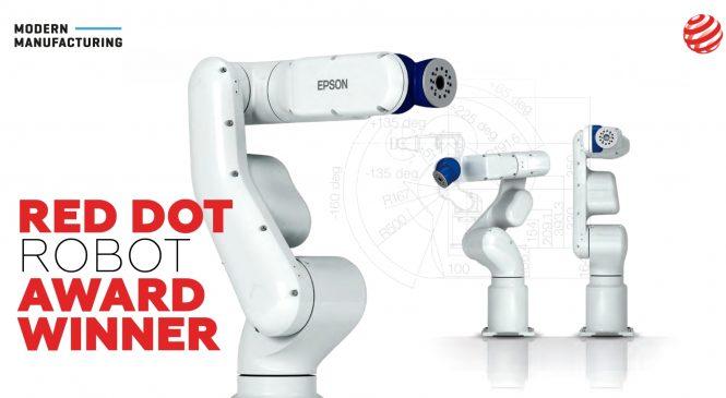 EPSON VT6L หุ่นยนต์ 6 แกนกับรางวัล Red Dot Award 2020