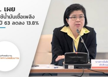 ธพ.เผย การใช้น้ำมันเชื้อเพลิงครึ่งปี 63 ลดลง 13.8%
