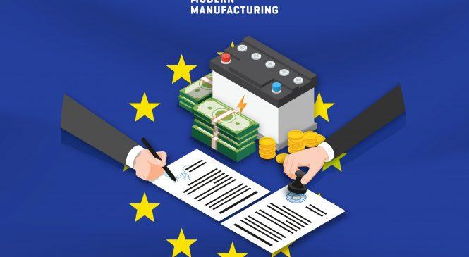 EU อนุมัติงบ 3.5 พันล้านดอลลาร์ฯ แก้ปัญหาผูกขาดแบตเตอรี่ EV จากเอเชีย