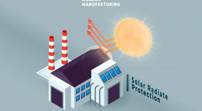 การจัดการปัญหาความร้อนภายในอาคารแบบถาวร แบบ Primary Solar Radiate Protection