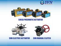 Electric Actuator, Pneumatic Actuator, Manual Clutch
