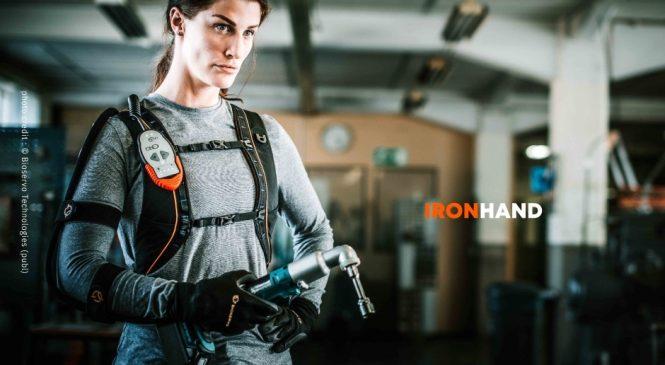Ironhand แขนหุ่นเหล็กที่ช่วยแรงงานในโรงงานจากการบาดเจ็บ