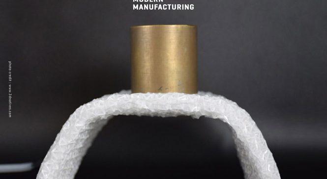 โครงสร้างวัสดุจากผ้าจากการพิมพ์ 3 มิติรับแรงได้มากกว่าน้ำหนักตัว 50 เท่า